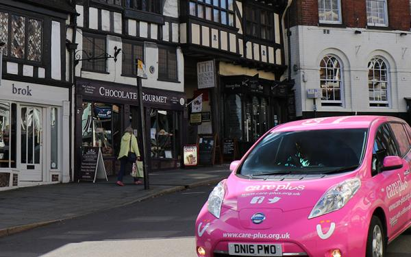Care Plus car in Shropshire