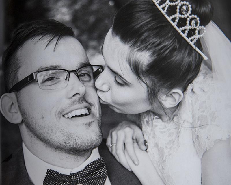 Adam & Krytina on their wedding day