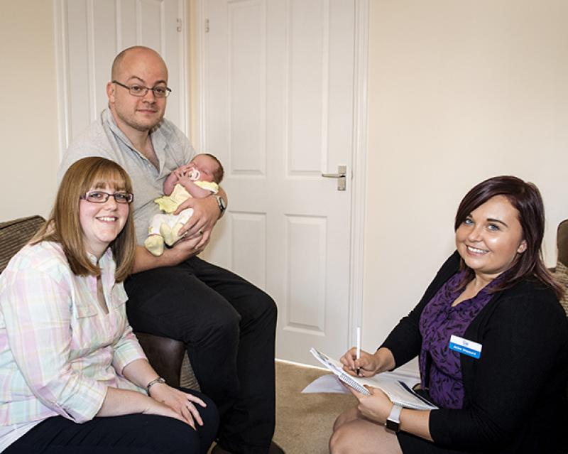 Severn Homes sales advisor with Simon and Jess Quilter